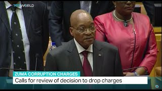 Calls for review of decision to drop corruption charges against Zuma, Qaanitah Hunter reports