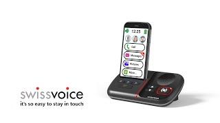 Produktvideo zu Swissvoice C50s Senioren-Smartphone mit Ladestation