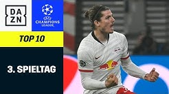 Top 10 Tore 3. Spieltag | UEFA Champions League | DAZN Highlights