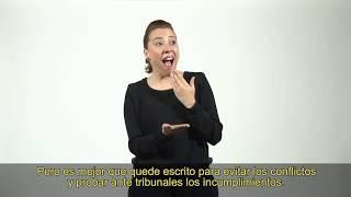 Guía legal en Lengua de señas: Ley de Arriendo