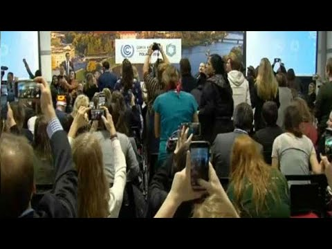 Watch: Protest breaks out at COP24 speech after US announces no change to climate policy