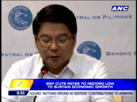 BSP cuts rates to record low to sustain economic growth