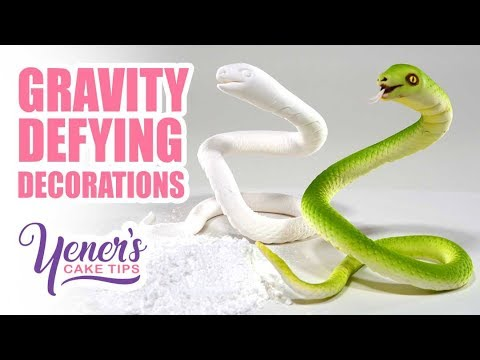 How to Make GRAVITY DEFYING DECORATIONS | Yeners Cake Tips by Serdar Yener from Yeners Way