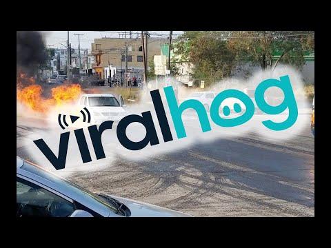 Car Brings Fire Closer Than Expected || ViralHog