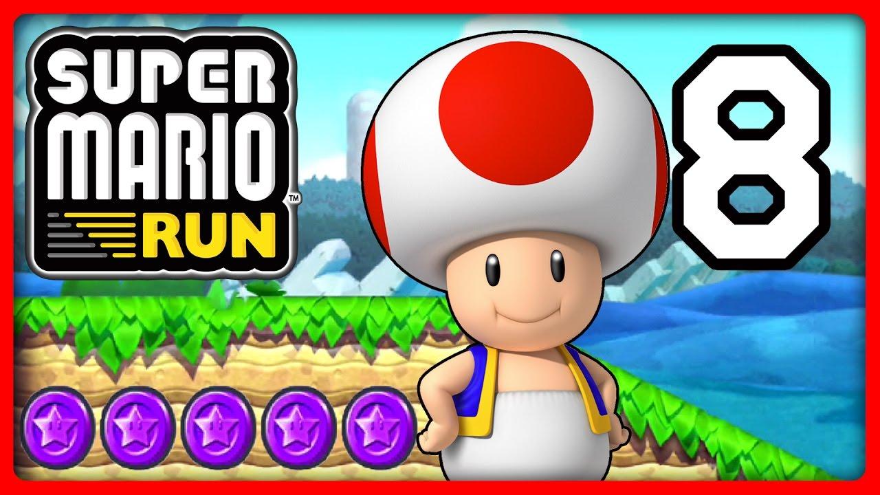 SUPER MARIO RUN Part 8: Toad Sammelt Die Lila Münzen Von