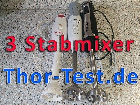 3 Stabmixer im Test Moulinex Bosch und HOMEASY  082017  YouTube