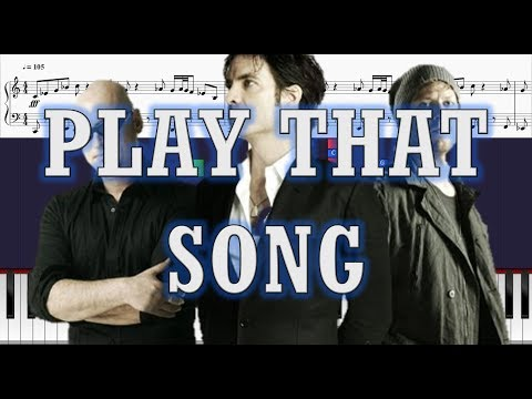 Train - Play That Song - EASY Piano Tutorial w/ Sheets