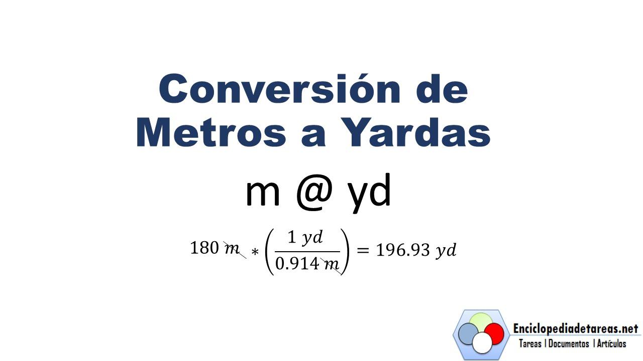 Conversi n de metros a yardas youtube - Pasar de metros a metros cuadrados ...