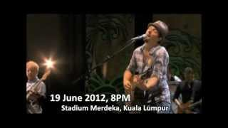 Jason Mraz Concert Live In Malaysia at Stadium Merdeka 2012