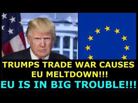 TRUMP'S TRADE WAR CAUSES EU MELTDOWN  EU IS IN BIG TROUBLE   EARL OF DARTMOUTH & FARAGE DEFEND US