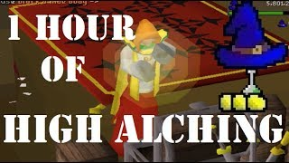1 Hour of High Alching (75K Magic XP) - OSRS Magic Training Guide