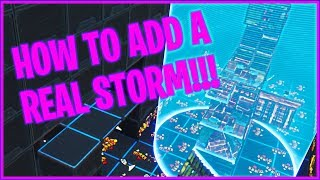 *NEW* HOW TO ADD A REAL STORM TO YOUR ZONEWARS MAP (Fortnite Battle Royale)
