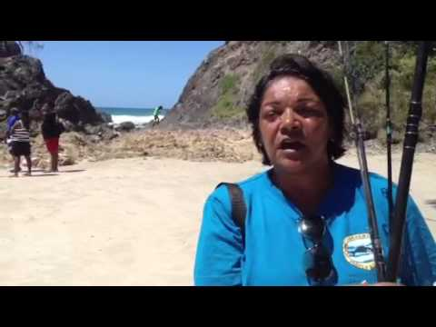 Yvonne Stewart & The Arakwal people of Byron Bay peacefully protest against Fisheries regulations