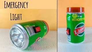 How To Make a Rechargeable Emergency LED Light at home by Using limca Can | DIY