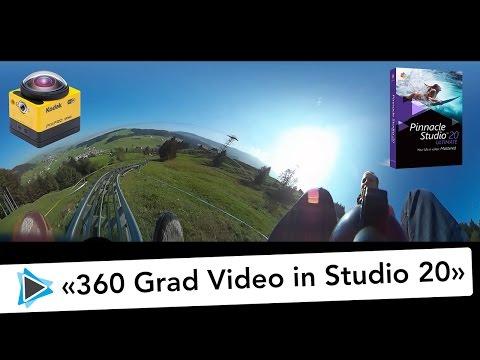 360 Grad Virtual Reality Aufnahme Kodak SP 360 und Pinnacle Studio 20 Deutsch Kronberg Rodelbahn