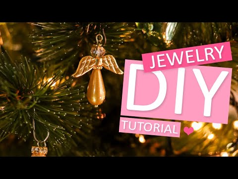 DIY Tutorial: Weihnachtsengel für den Christbaum basteln