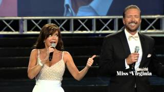 "Walt Willey and Bobbie Eakes sing ""The Lady is a Tramp"" at the Miss Virginia Pageant"