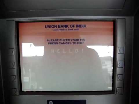 Withdraw money from Union Bank Of India