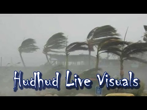 Situation while Cyclone Hudhud entering to vizag   MOCK LIVE : TV5 News