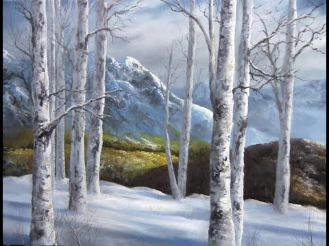 Paint with Kevin - Winter Birch Forest