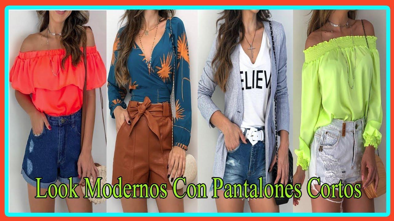 Moda 2020 Outfits Juveniles Elegantes Y Casuales Con Pantalones Cortos Youtube