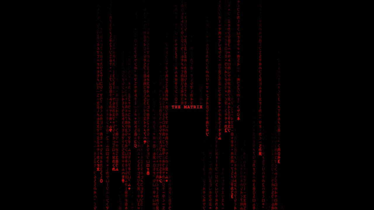 Matrix Wallpaper Animated Iphone The Matrix Falling Code Special Red Edition Full