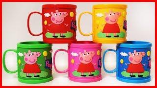 佩佩豬粉紅豬小妹杯子驚喜玩具,有彩虹小馬和芭比公主出奇蛋