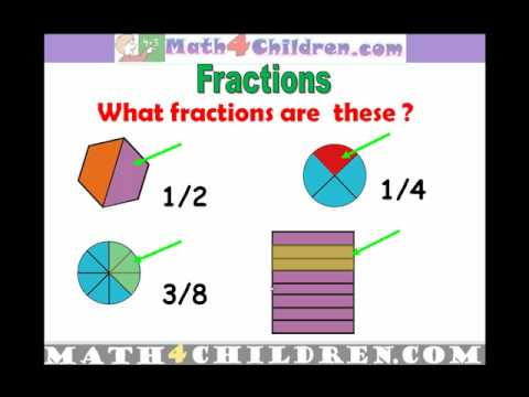 1st Grade Fractions Lesson, Math for Children Math4children.com
