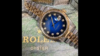 Rolex 16233G 데이저스트 블랙&블루 팔…