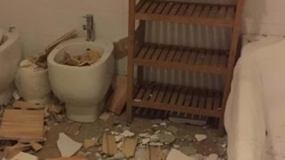 Earthquake witness: Our bathroom ceiling collapsed