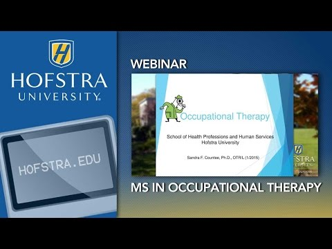 MS in Occupational Therapy, Hofstra University