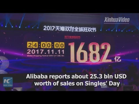 A new record! Alibaba reports $25.3 bln of sales on Singles' Day