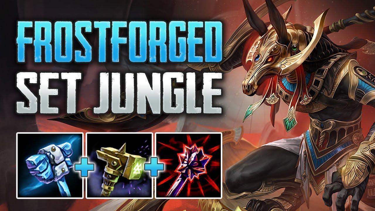FROSTFORGED SET IS INSANE! Set Jungle Gameplay (SMITE Conquest)