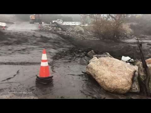 Flash Flood - Holy Fire Burn Scar - Horsethief Canyon/Temescal Valley, CA - 12/6/2018