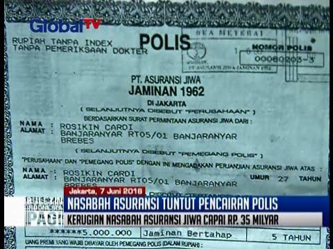 Polis asuransi jiwa tidak dibayar, ribuan nasabah mengalami kerugian hingga Rp 35 miliar - BIP 07/06