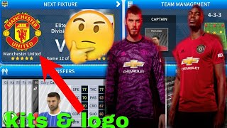 the latest fe7e8 f344b Dream League Soccer 2018 Manchester United Kit