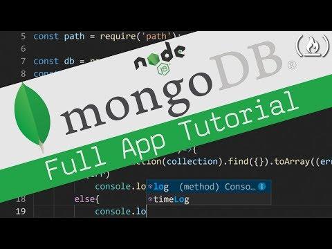 MongoDB Tutorial - CRUD app from scratch using Node.js thumbnail