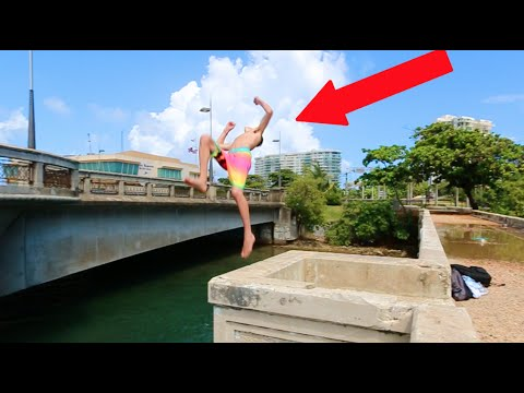 BRIDGE JUMPING FLIPS IN PUERTO RICO!