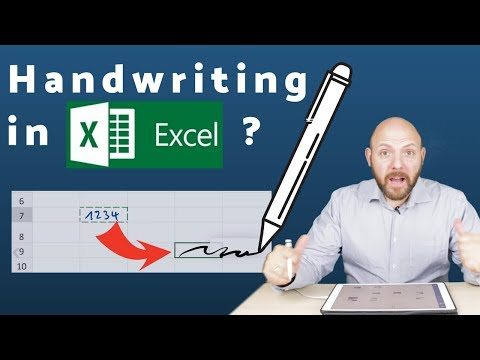 😲 Handwriting in Word and Excel with Apple Pencil on iPad (Pro) 2018