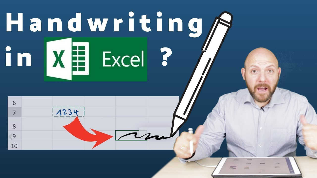 😲 Handwriting in Word and Excel with Apple Pencil on iPad ...