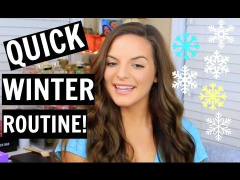 QUICK WINTER ROUTINE! Running Errands | Makeup & Hair! | Casey Holmes