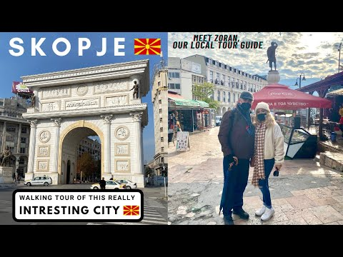 SKOPJE Tourist Guide - WALKING TOUR with a LOCAL around Europe's MOST UNUSUAL CITY - We Love It 🇲🇰