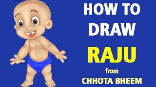 How to Draw Raju from Chhota Bheem [Speed Painting]