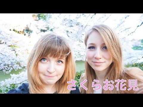 ロシア人の桜お花見♡靖国神社、千鳥ヶ淵♡
