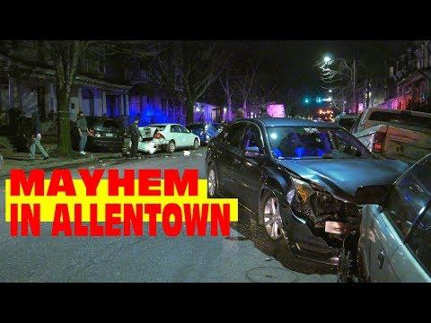Drunk Driver Causes Mayhem On 6th Street In Allentown, Pennsylvania