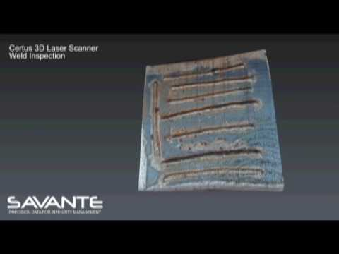 Savante Subsea and Underwater Lasers:  Certus 3D laser weld inspection demo