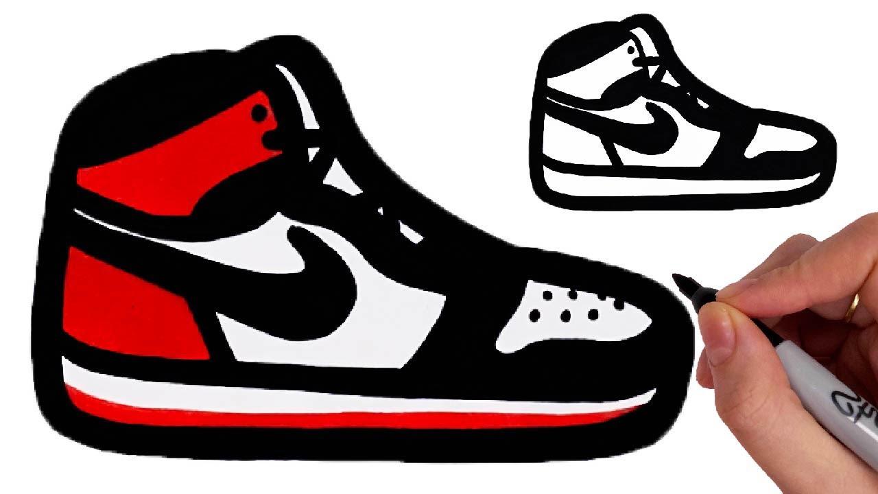 Comment Dessiner Des Sneakers Baskets Chaussures Nike Air Jordan Facile Youtube