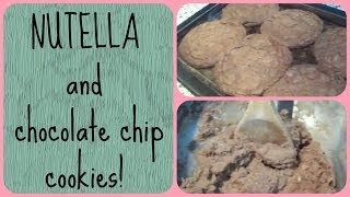 Nutella and chocolate chip cookies Thumbnail