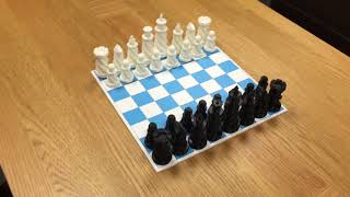 Showing off the 3D printed Chess set printed on MakerBot Replicator 5th Gen 3D Printer