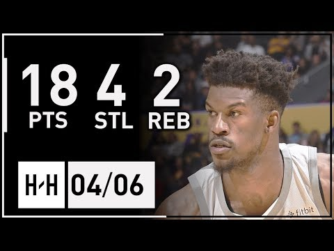 Jimmy Butler RETURNS Full Highlights Timberwolves vs Lakers (2018.04.06) - 18 Pts, 4 Stl, 2 Reb!